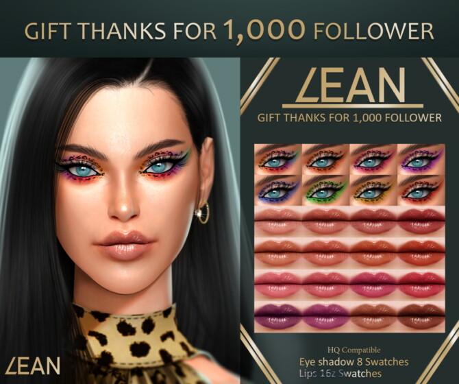 Sims 4 Eyeshadow & lips at LEAN