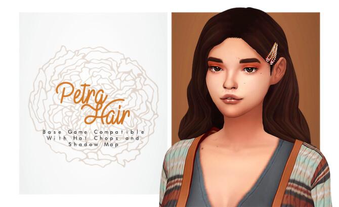 Sims 4 Petra Hair v2 at Isjao