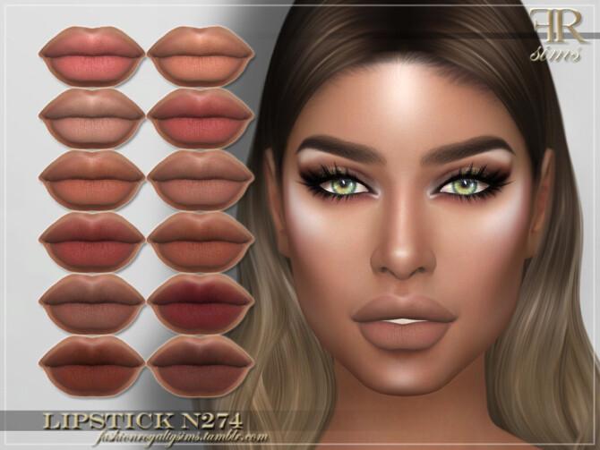 Sims 4 FRS Lipstick N274 by FashionRoyaltySims at TSR