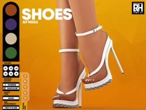 Heeled Sandals AF N003 at REDHEADSIMS