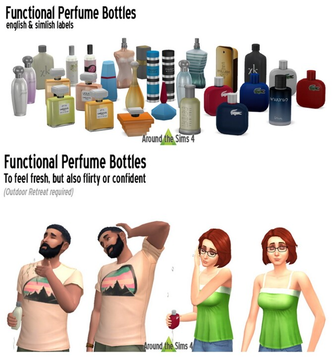 Sims 4 Functional perfumes at Around the Sims 4
