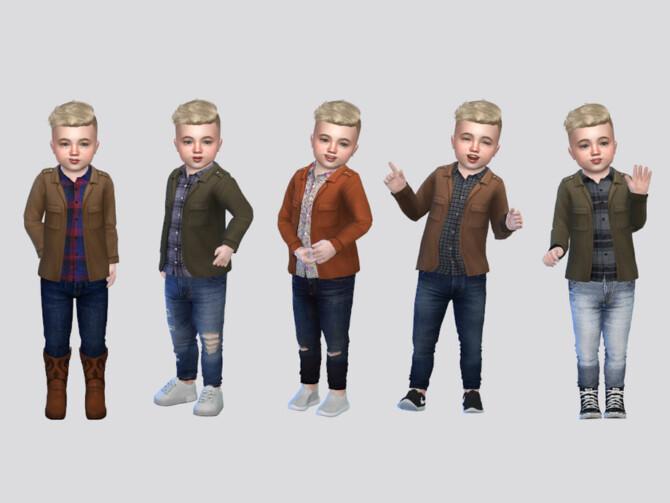 Sims 4 Santiago Shirt Jacket Toddler by McLayneSims at TSR