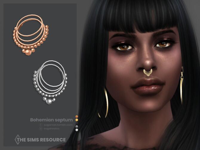 Sims 4 Bohemian septum by sugar owl at TSR