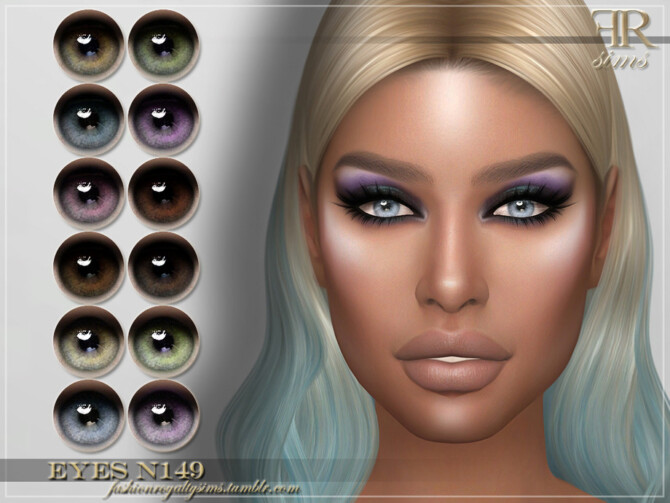 Sims 4 FRS Eyes N149 by FashionRoyaltySims at TSR