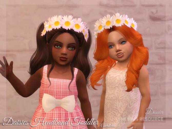 Sims 4 Daisies Headband Toddler by Dissia at TSR