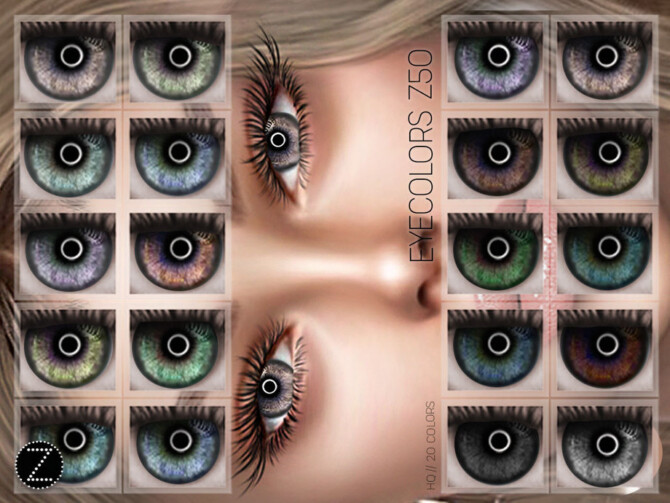 Sims 4 EYECOLORS Z50 by ZENX at TSR