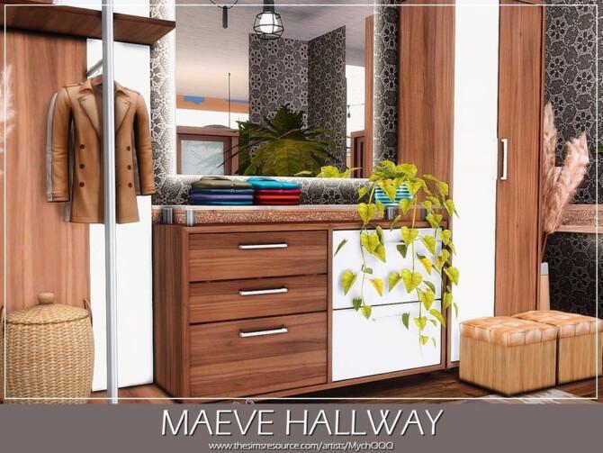 Sims 4 Maeve Hallway by MychQQQ at TSR