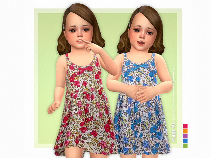 Sims 4 Amelia Dress by lillka at TSR