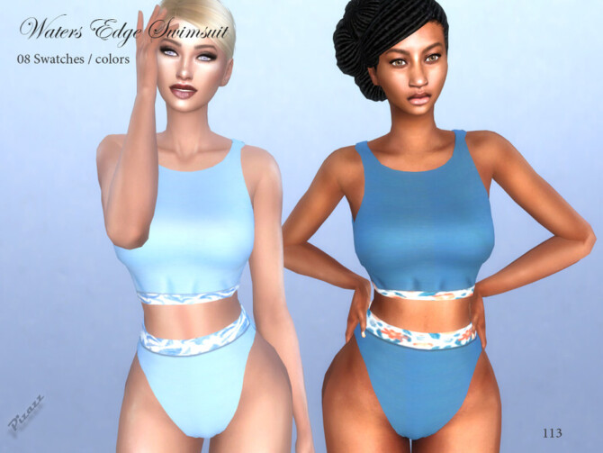 Sims 4 Waters Edge Swimsuit 2 by pizazz at TSR