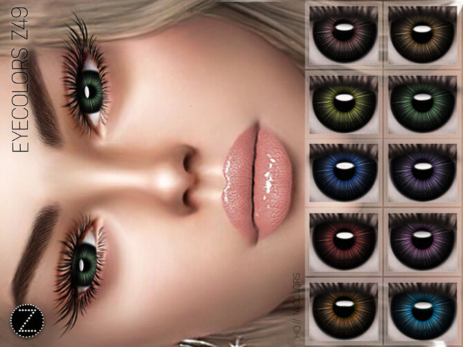 Sims 4 EYECOLORS Z49 by ZENX at TSR