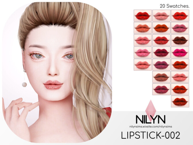 Sims 4 LIPSTICK 002 by Nilyn at TSR