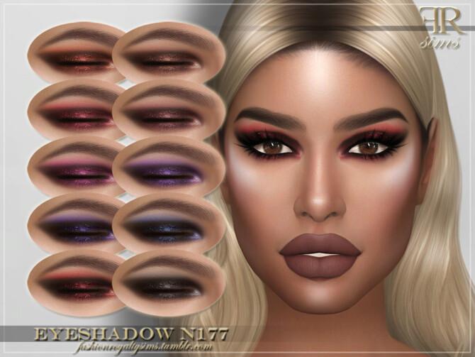 Sims 4 FRS Eyeshadow N177 by FashionRoyaltySims at TSR