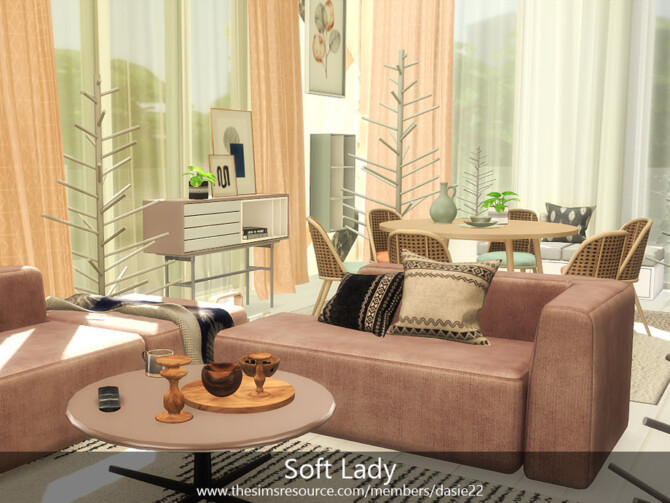 Sims 4 Soft Lady livingroom by dasie2 at TSR