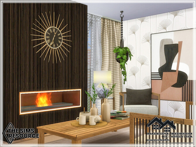 Sims 4 MADELINE Bedroom by marychabb at TSR