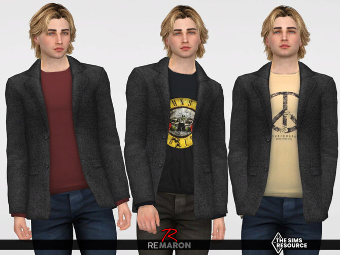 Sims 4 Suits with Shirt 01 for Male Sims by remaron at TSR