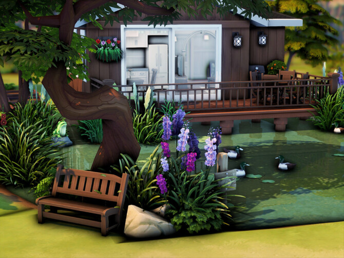 Sims 4 Tiny Pondview by xogerardine at TSR