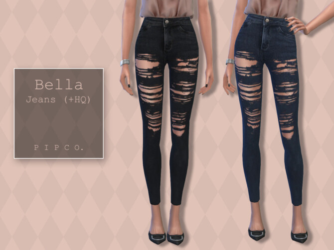 Sims 4 Bella Jeans by Pipco at TSR