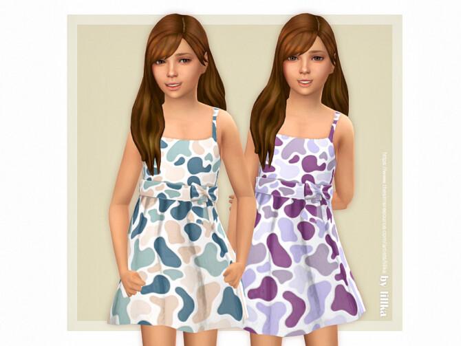 Sims 4 Paula Dress by lillka at TSR