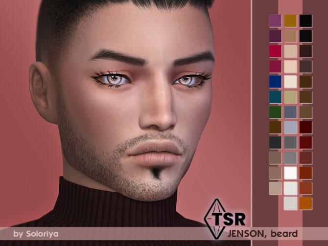 Sims 4 Beard Jenson by soloriya at TSR