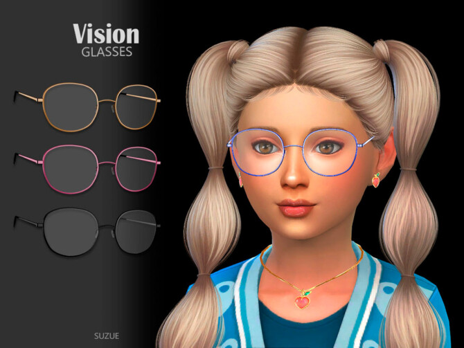 Sims 4 Vision Glasses Child by Suzue at TSR