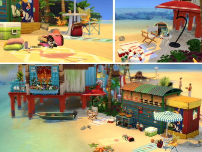 Sims 4 Parrot Paradise Bar by VirtualFairytales at TSR