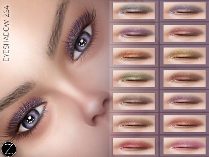 Sims 4 EYESHADOW Z34 by ZENX at TSR