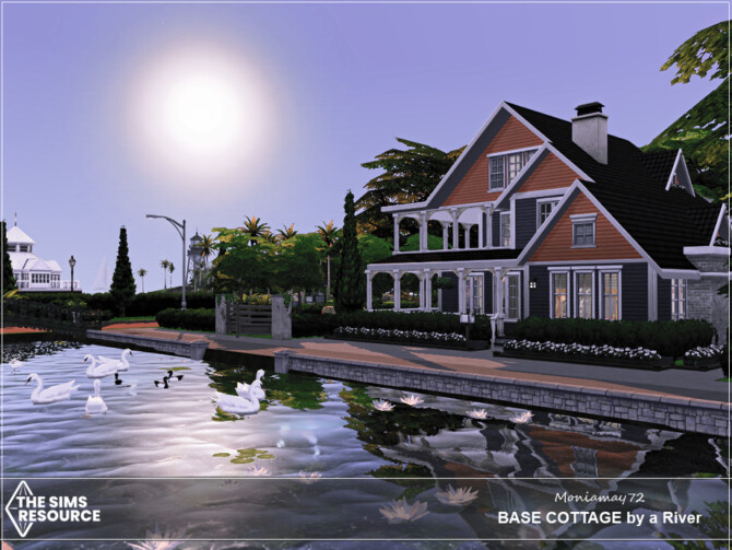 Sims 4 Base Cottage by a River by Moniamay72 at TSR