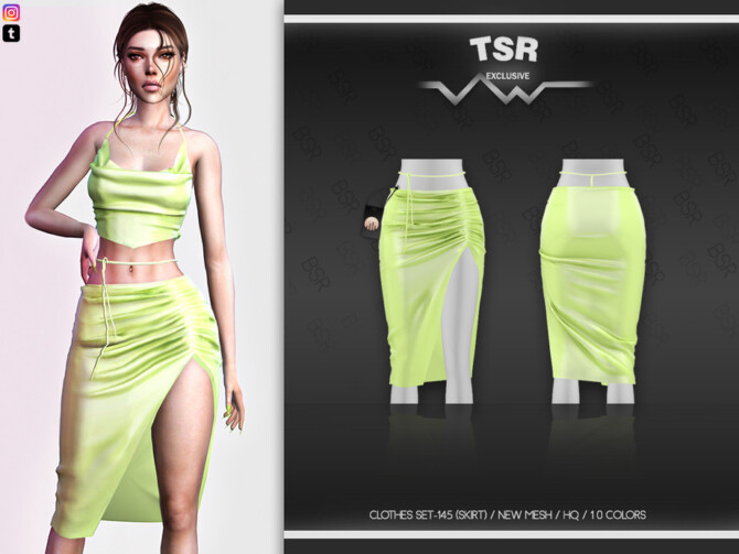 Sims 4 Clothes SET 145 (SKIRT) BD512 by busra tr at TSR