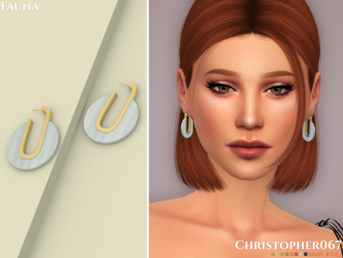 Sims 4 Fauna Earrings by Christopher067 at TSR