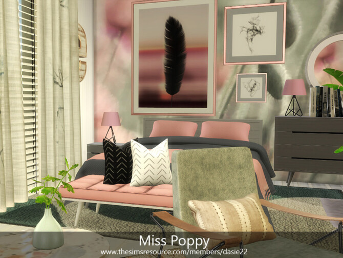 Sims 4 Miss Poppy Bedroom by dasie2 at TSR