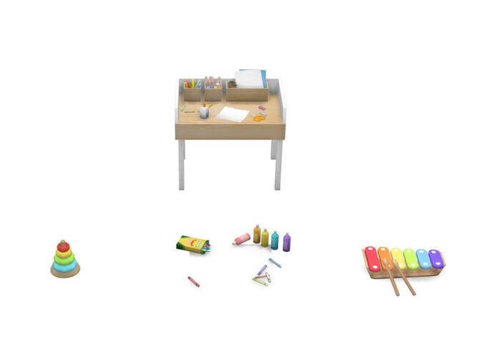 Sims 4 Toddler Creativity Pack by PandaSamaCC at TSR