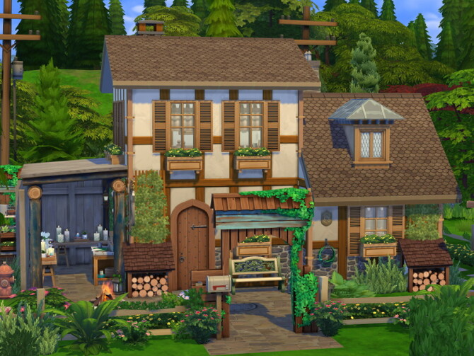 Sims 4 Candle Maker Cottage / Tiny House by Flubs79 at TSR