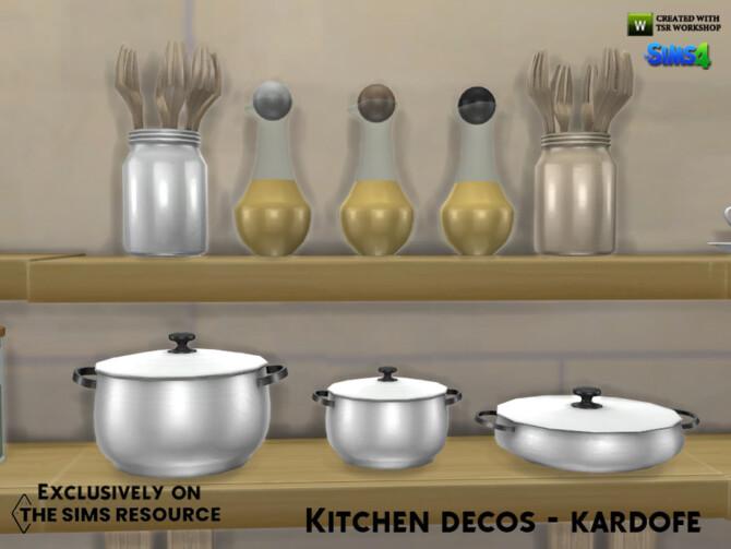 Sims 4 Kitchen decos by kardofe at TSR