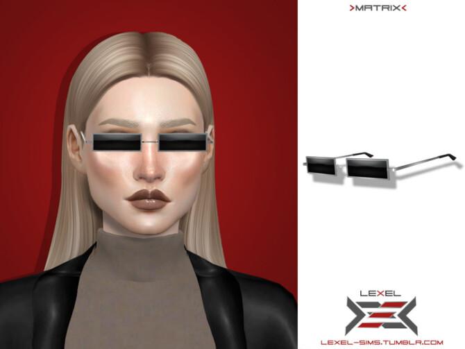 Sims 4 Matrix glasses by LEXEL at TSR