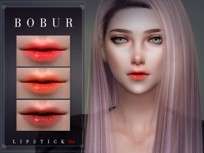 Sims 4 Lipstick 116 by Bobur3 at TSR