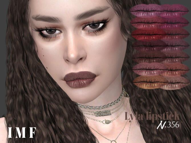 Sims 4 IMF Lyla Lipstick N.356 by IzzieMcFire at TSR