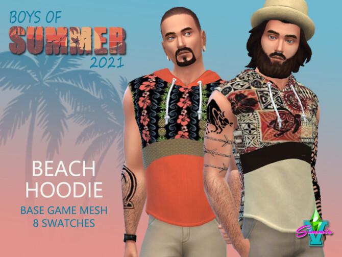 Sims 4 SimmieV BoS Beach Hoodie by SimmieV at TSR