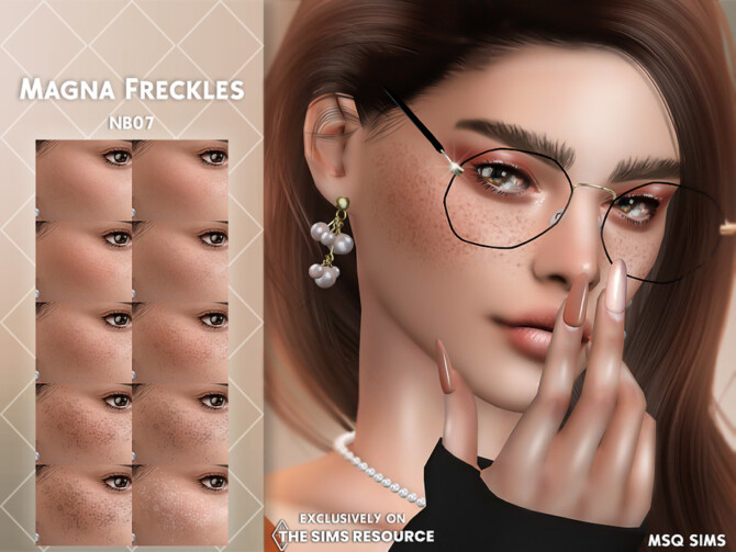 Sims 4 Magna Freckles by MSQSIMS at TSR