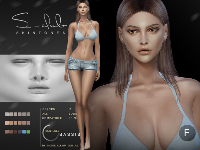Sims 4 Shine soft overlay skintones for female by S Club at TSR