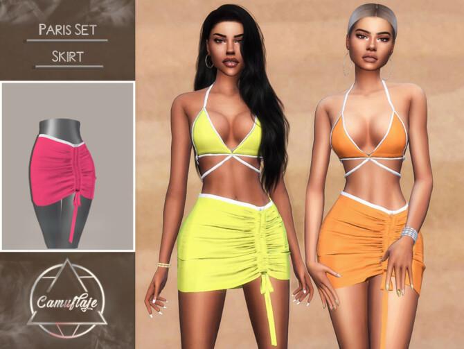 Sims 4 Paris Set Skirt by Camuflaje at TSR