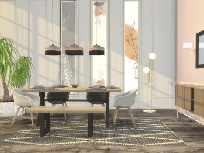 Sims 4 Qina Dining Room by ArtVitalex at TSR