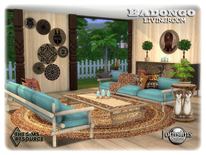 Sims 4 Badongo living room by jomsims at TSR