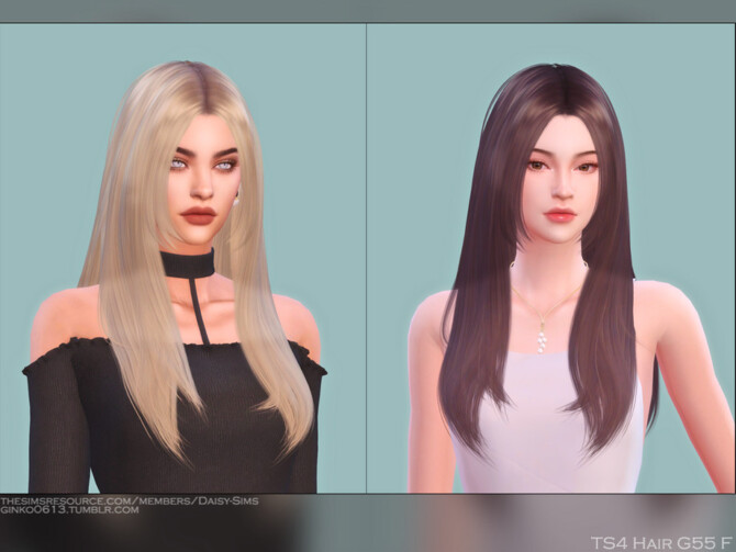 Sims 4 Female Hair G55 by Daisy Sims at TSR