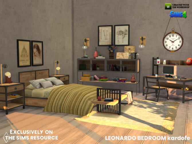 Sims 4 Leonardo Bedroom by kardofe at TSR