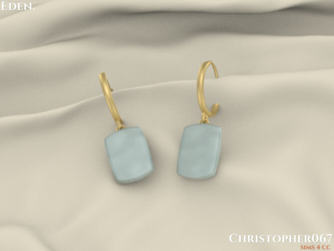 Sims 4 Eden Earrings by Christopher067 at TSR