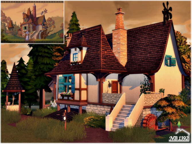 Sims 4 Belles Cottage by nobody1392 at TSR