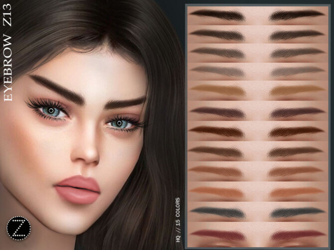 Sims 4 EYEBROW Z13 by ZENX at TSR