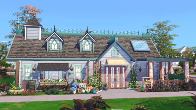 Sims 4 Oak Alcove Newcrest Retail Flower Shop at Mod The Sims 4