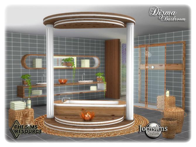 Sims 4 Dizma bathroom by jomsims at TSR
