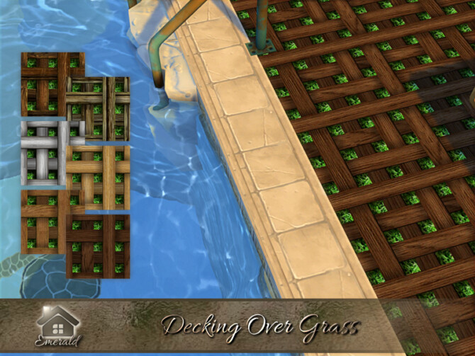 Sims 4 Decking Over Grass by emerald at TSR